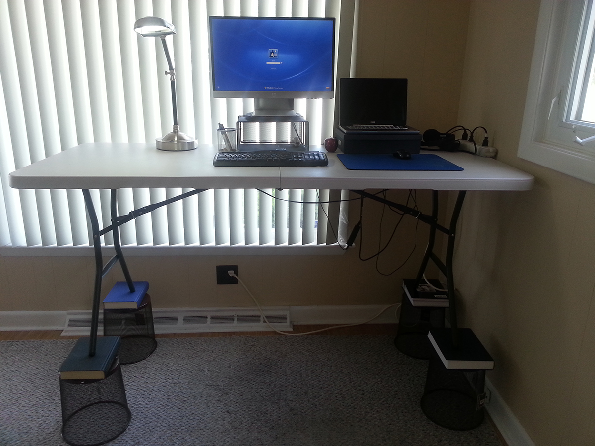 Standing Desk Hack Pictures Gallery